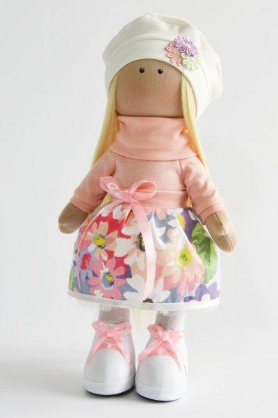 Юбка в цветочек на кукле