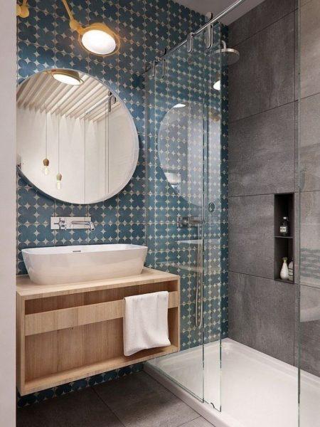 Ванная комната с интересным дизайном