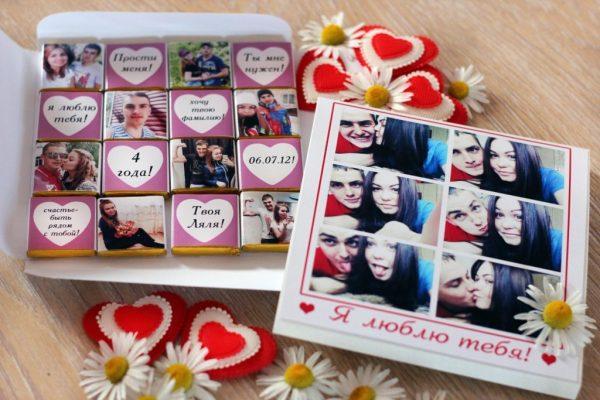 Конфеты с фотографиями
