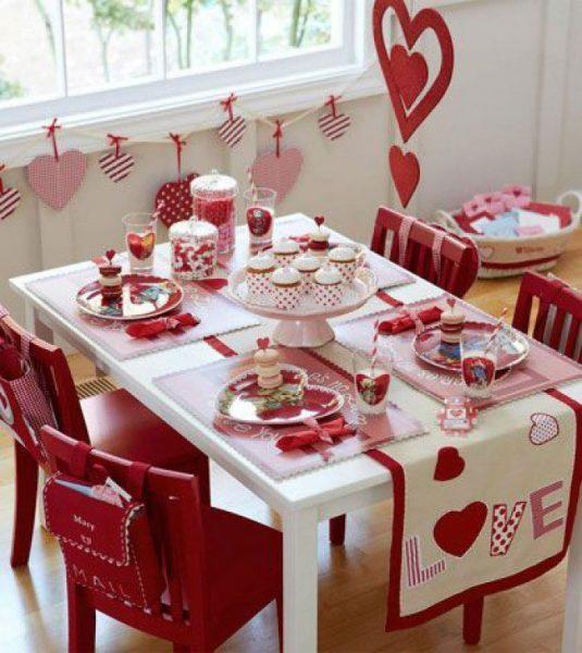 Стол ко Дню Святого Валентина