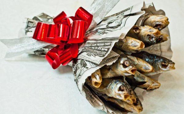 Букет из сушёной рыбы