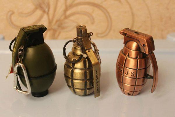 Зажигалки в виде гранаты