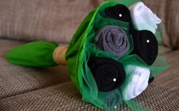 Мини-букет из носков