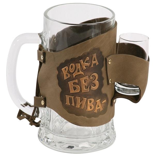 Кружка под пиво с рюмкой