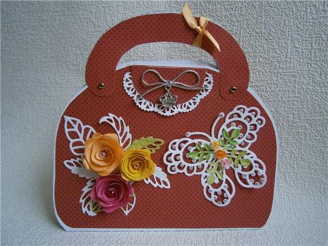 Открытки сумочка, для коллекционирования