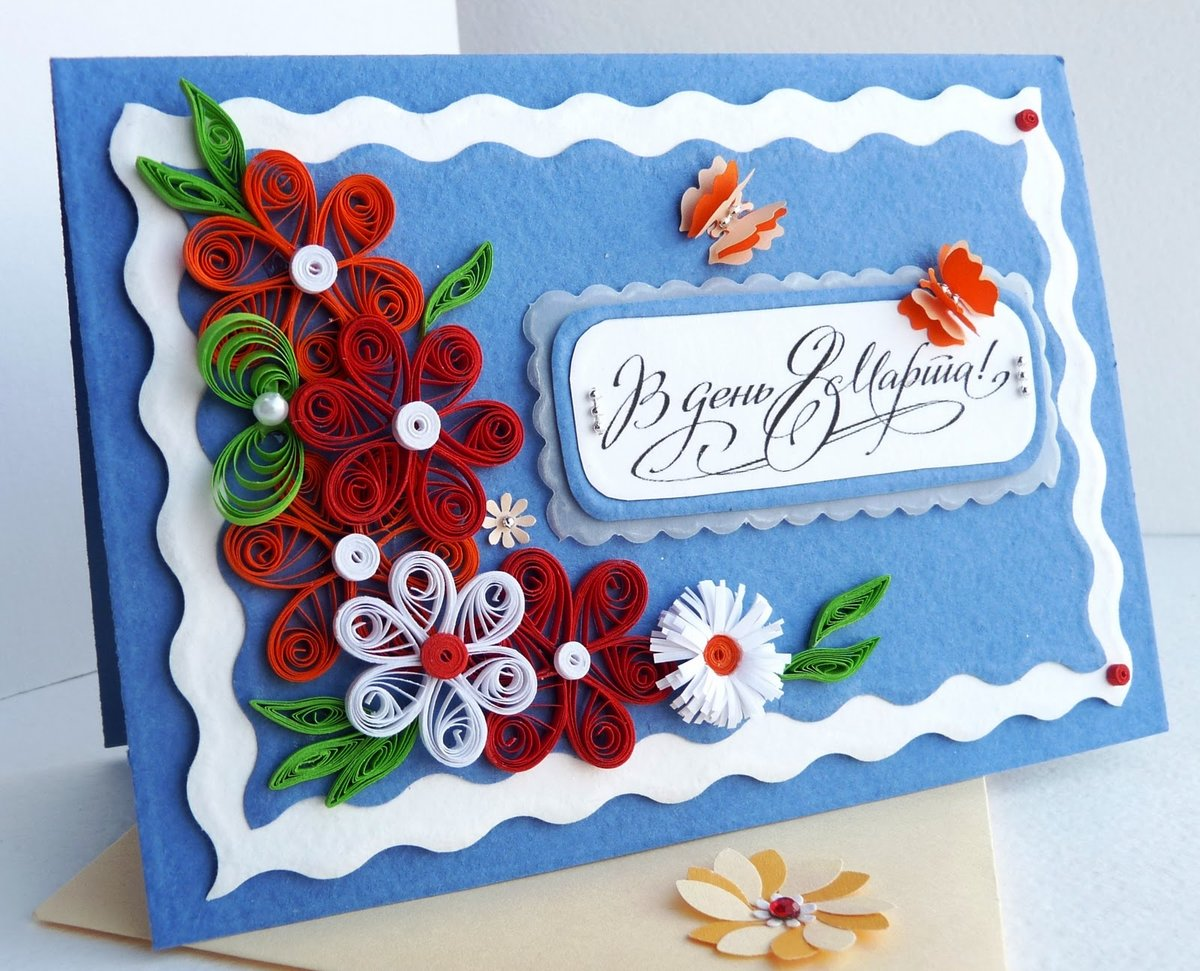 8 марта открытки бабушкам своими руками