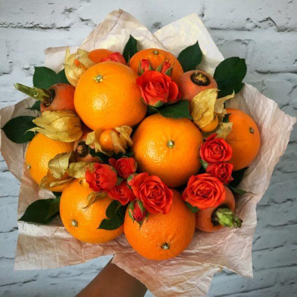 Букет в оранжевом цвете