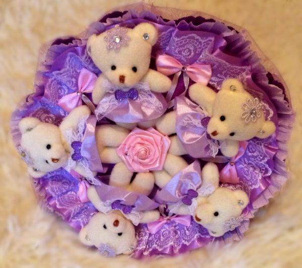Мишки в букете
