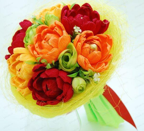 Шикарные цветы из конфет