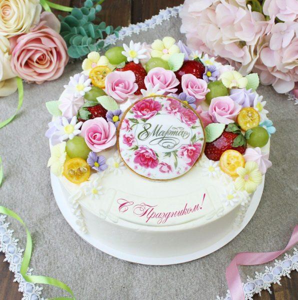 Великолепный торт на 8 Марта