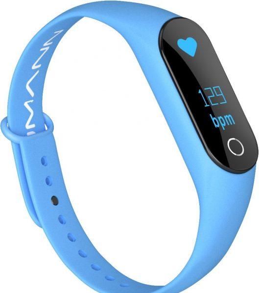 Голубой фитнес-браслет