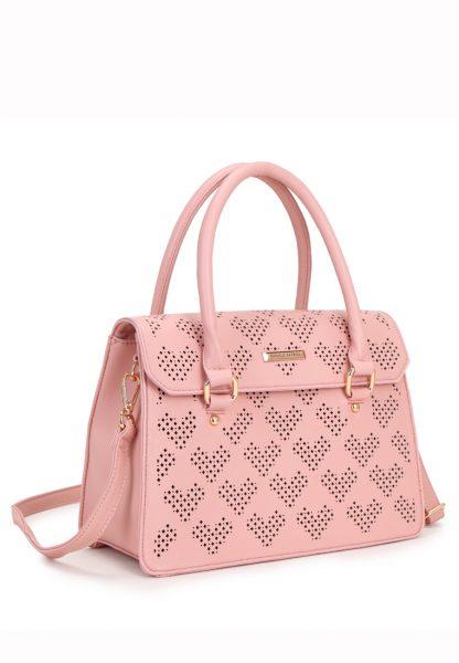 Розовая сумочка с перфорацией