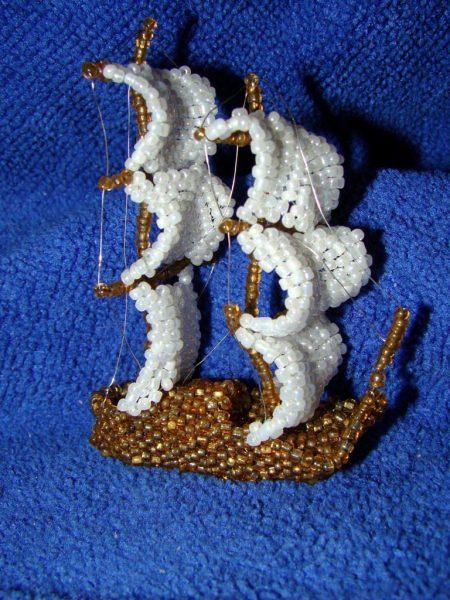 Корабль из бисера