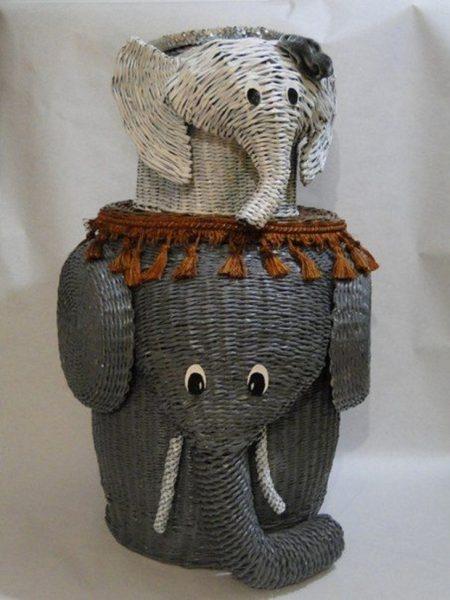 Корзины в виде слонов