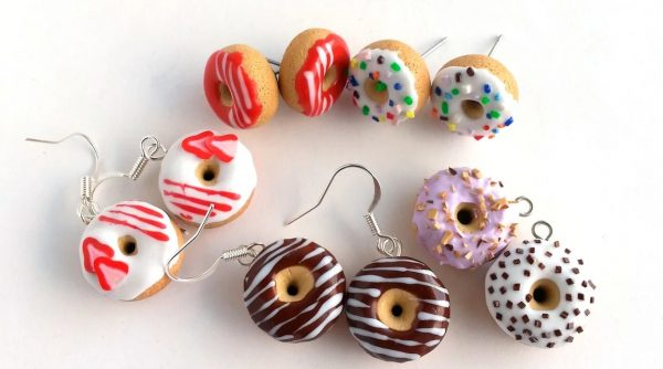 Серьги в виде пончиков
