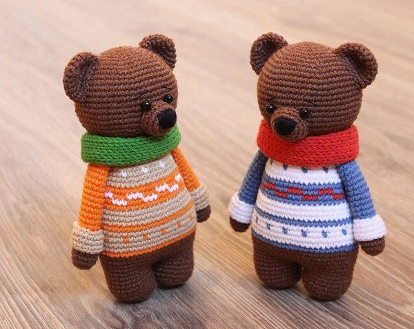 Вязаные медведи