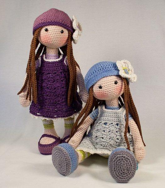 Вязаные куклы Тильда