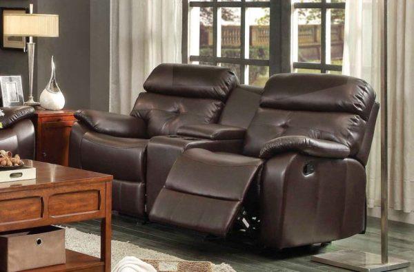 Кожаный диван-кресло