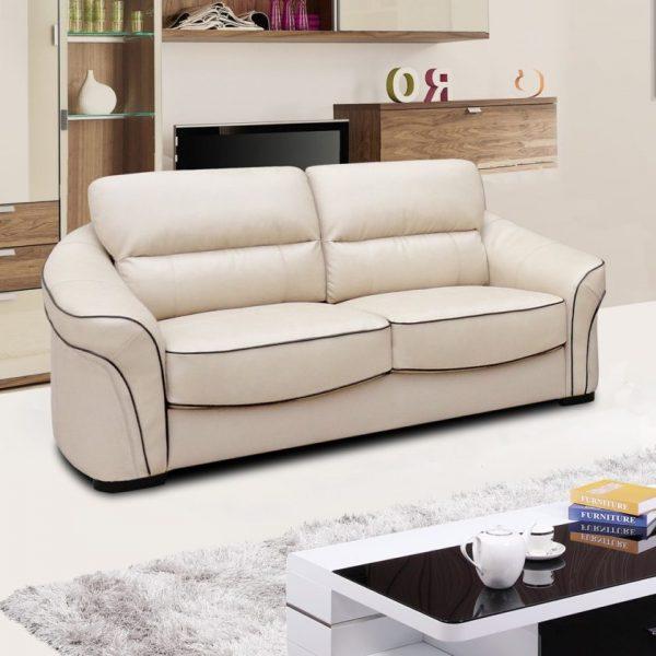 Белый диван с черной полоской по контуру