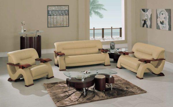 Комплект мягкой мебели из кожи