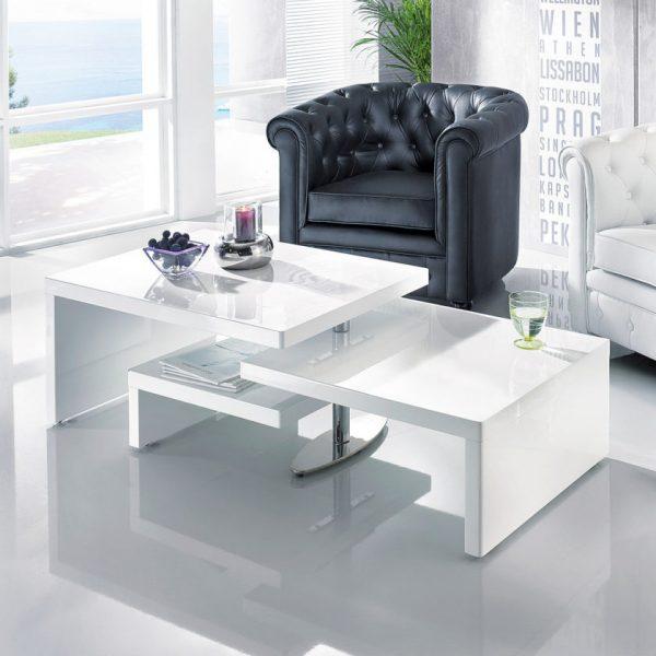 Белый столик с ярусами