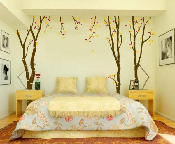 Деревья в спальне