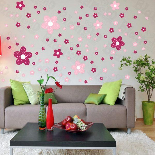 Цветочки на стене