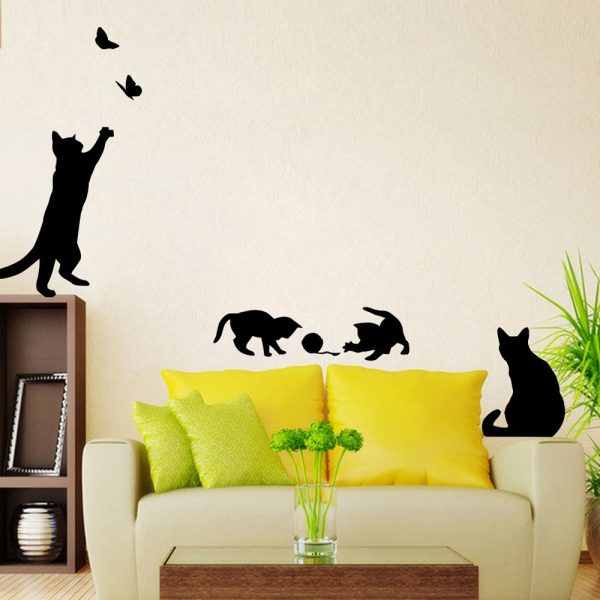 Виниловые наклейки в виде котиков