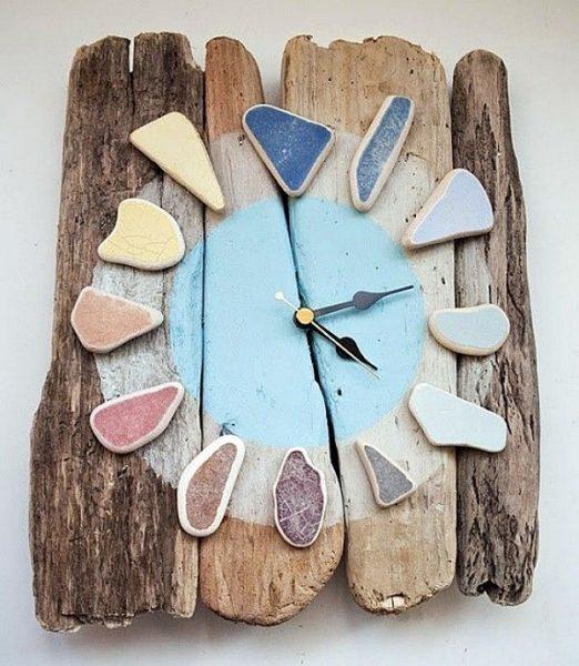 Каменно-деревянные часы