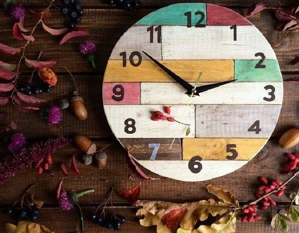 Часы из досочек