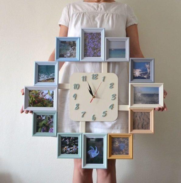 Часы с рамками