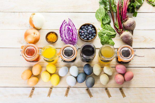 Окрашивание яиц натуральными ингредиентами