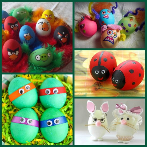 Мордочки на яйцах