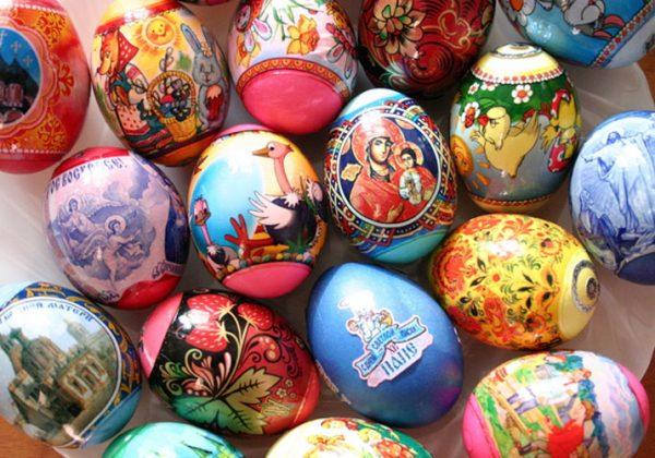 Различные наклейки для яиц