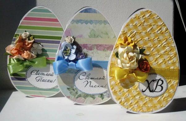 Открытки в виде яиц