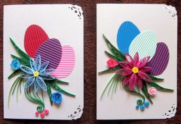 Пасхальные открытки в технике квиллинг