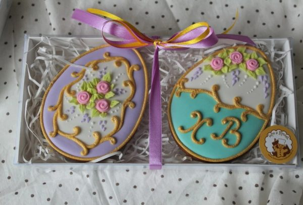 Печенье в красивой коробочке на Пасху