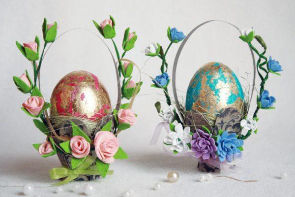 Красивые корзинки для яичек