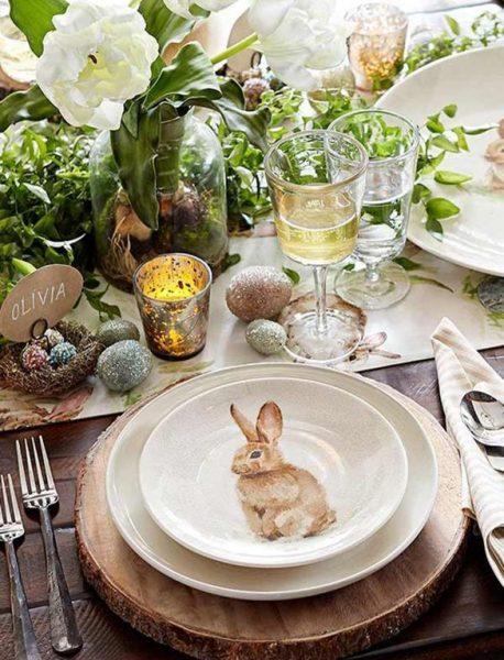 Тарелка с рисунком кролика
