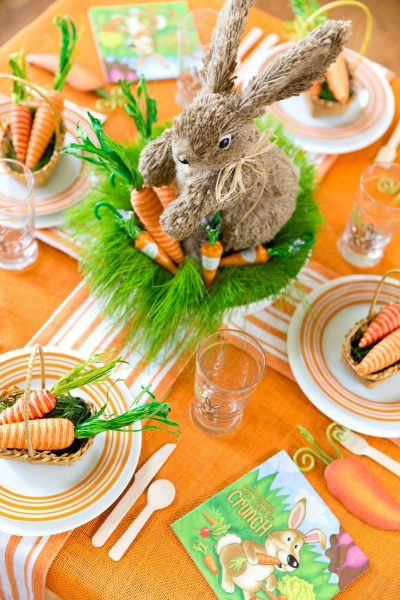 Стол с морковками