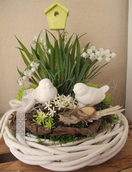 Гнездо с птичками