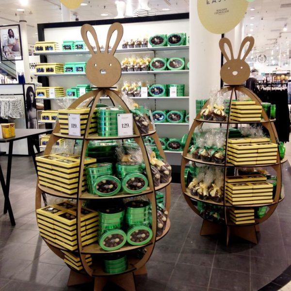 Стенды для сладостей в виде зайца