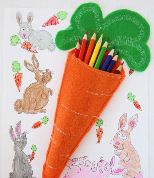 Футляр из фетра в виде морковки