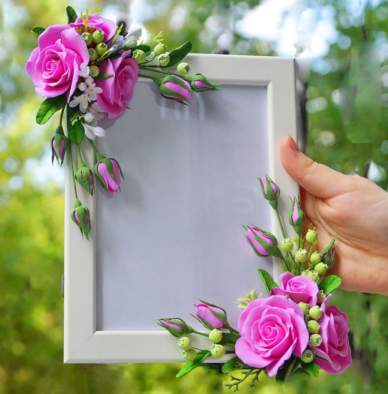 важно розы из фоамирана для рамки с фото эти