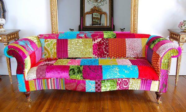 Дизайнерский диван в технике пэчворк
