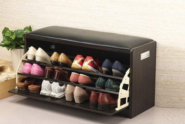 Тумбочка-сидушка для обуви