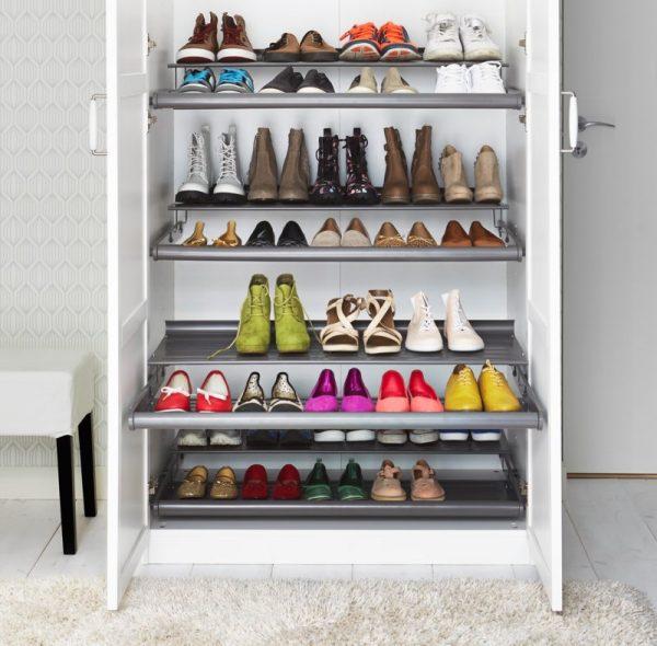 Шкаф для обуви с дверками