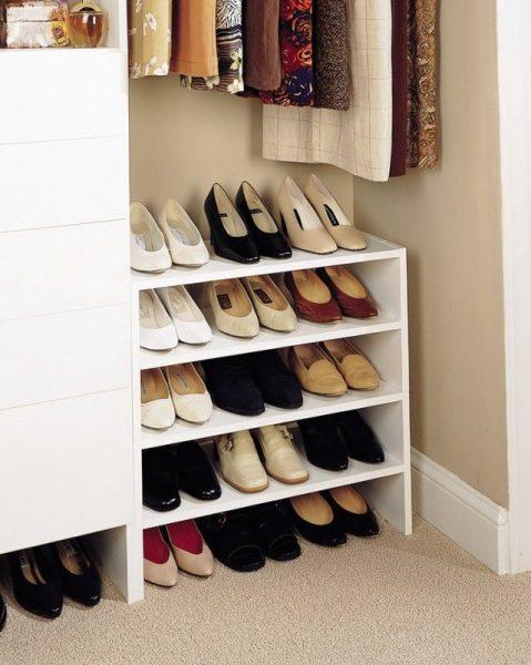 Тумба с полками для обуви