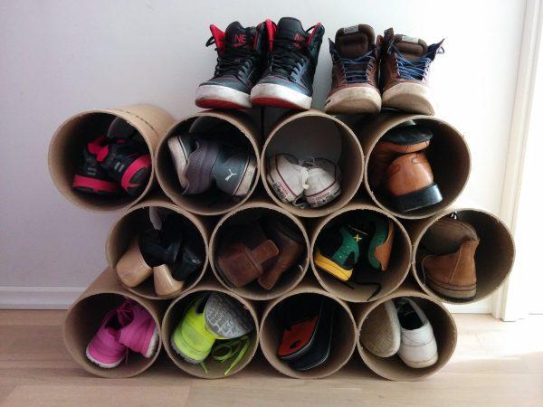 Пластиковые трубы для хранения обуви