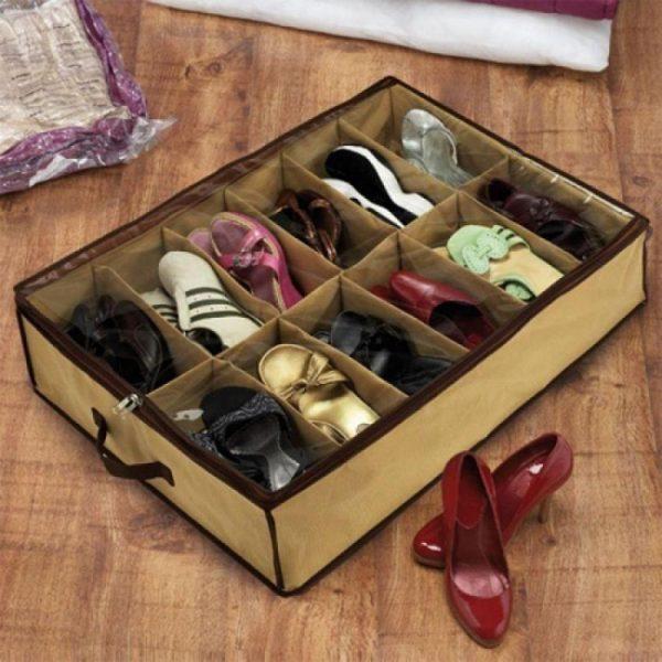 Тканевая коробка для хранения обуви